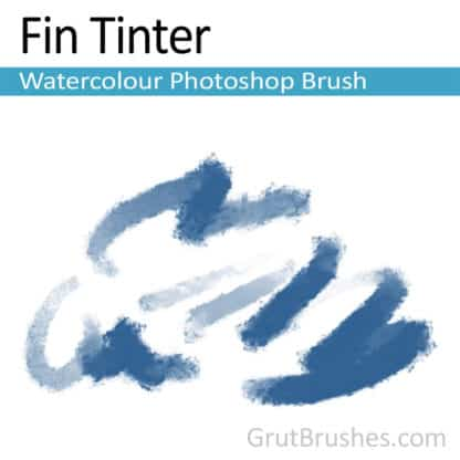 Photoshop Watercolor Brush for digital artists 'Fin Tinter'