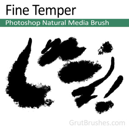 Photoshop Natural Media for digital artists 'Fine Temper'