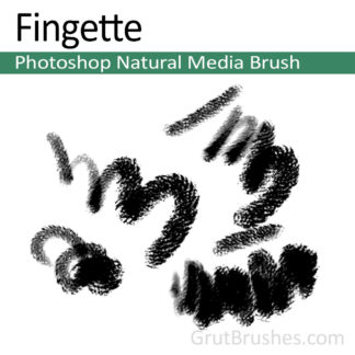 Photoshop Natural Media Brush for digital artists 'Fingette'