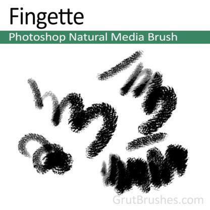 Photoshop Natural Media Brush for digital artists 'Fingette'
