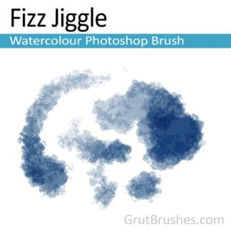 Photoshop Watercolor Brush for digital artists 'Fizz Jiggle'