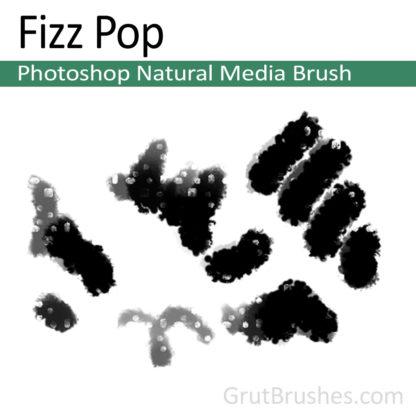 Photoshop Natural Media Brush for digital artists 'Fizz Pop'