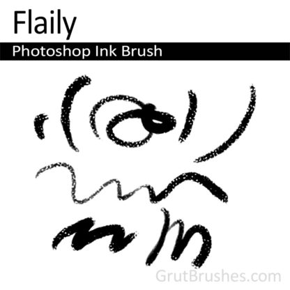 Photoshop Ink Brush for digital artists 'Flaily'