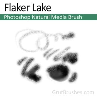 Photoshop Natural Media Brush for digital artists 'Flaker Lake'