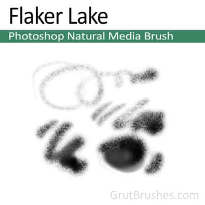 Photoshop Natural Media Brush for digital artists 'Flaker Lake'