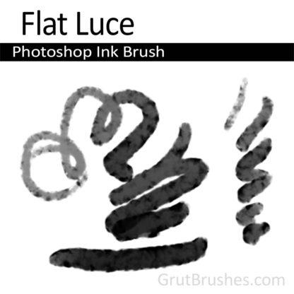 Photoshop Ink Brush for digital artists 'Flat Luce'
