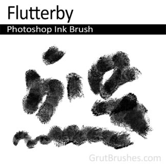 Photoshop Ink Brush for digital artists 'Flutterby'
