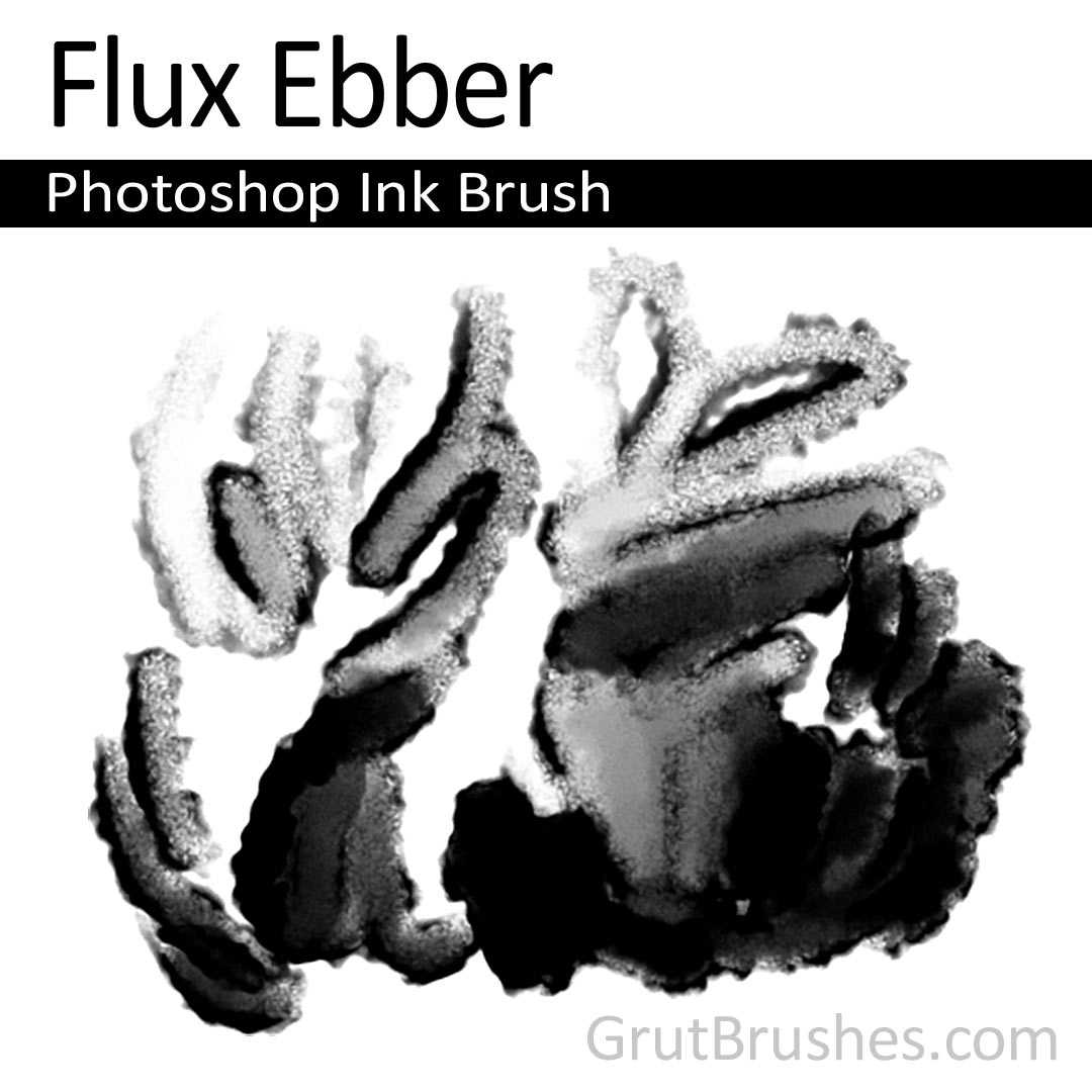 'Flux Ebber' Photoshop ink brush for digital painting