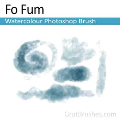 Photoshop Watercolour Brush for digital artists 'Fo Fum'