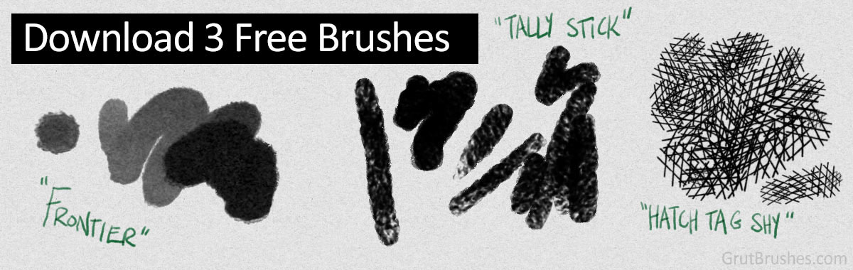 Download 3 Free natural media Photoshop brushes