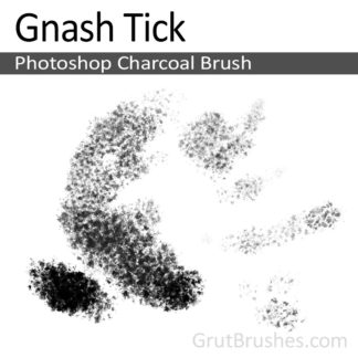 Photoshop Charcoal Brush for digital artists 'Gnash Tick'