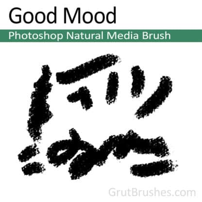 Photoshop Natural Media Brush for digital artists 'Good Mood'