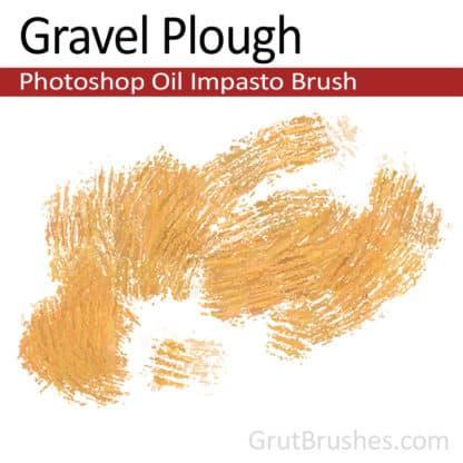 Gravel plough - Impasto Oil Photoshop Brush