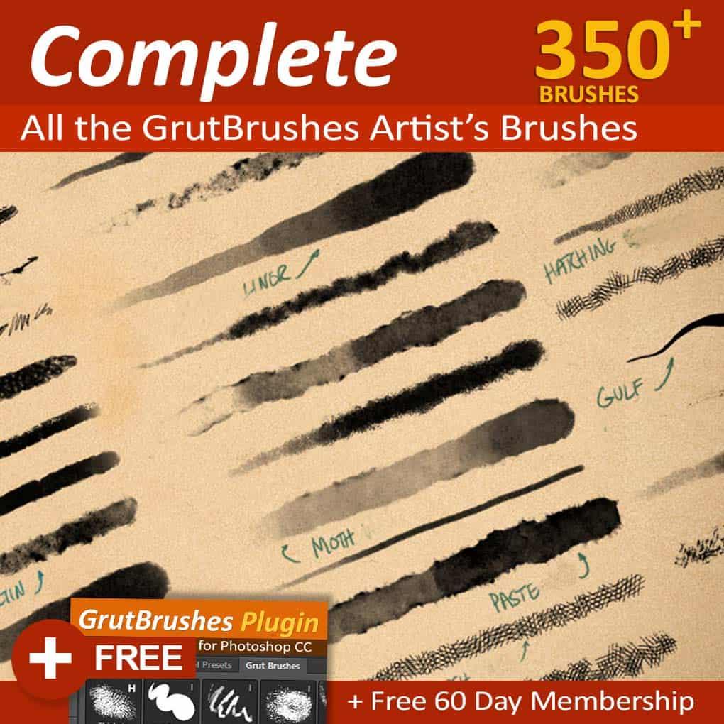 Photoshop brush set - 350 Photoshop brushes