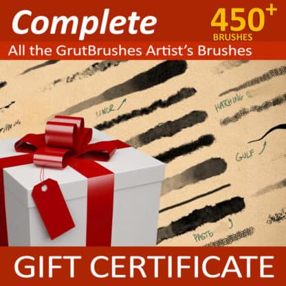 450 Photoshop brushes gift certificate