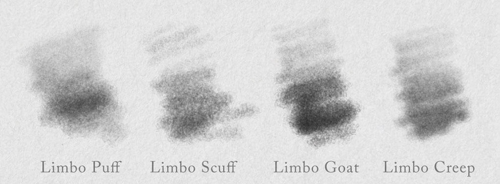 Four Photoshop pencil edge brushes
