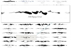Examine sample brush strokes of every GrutBrush by hovering over thumbnails