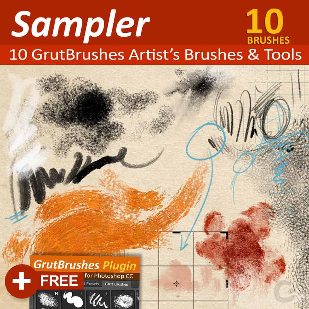 GrutBrushes Photoshop Brushes Sampler