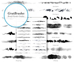 Download cheat sheet for all GrutBrushes Photoshop brushes
