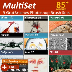 85 Photoshop brushes for digital artists by GrutBrushes
