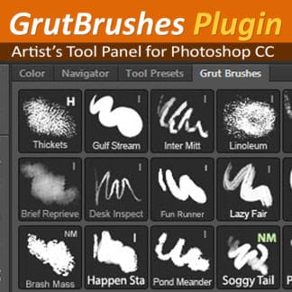 GrutBrushes Tool Panel Plugin for Photoshop CC