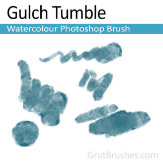 Photoshop Watercolor for digital artists 'Gulch Tumble'