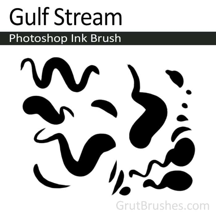 'Gulf Stream' Photoshop ink brush for digital painting