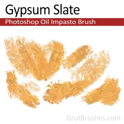 Gypsum Slate - Impasto Oil Photoshop Brush