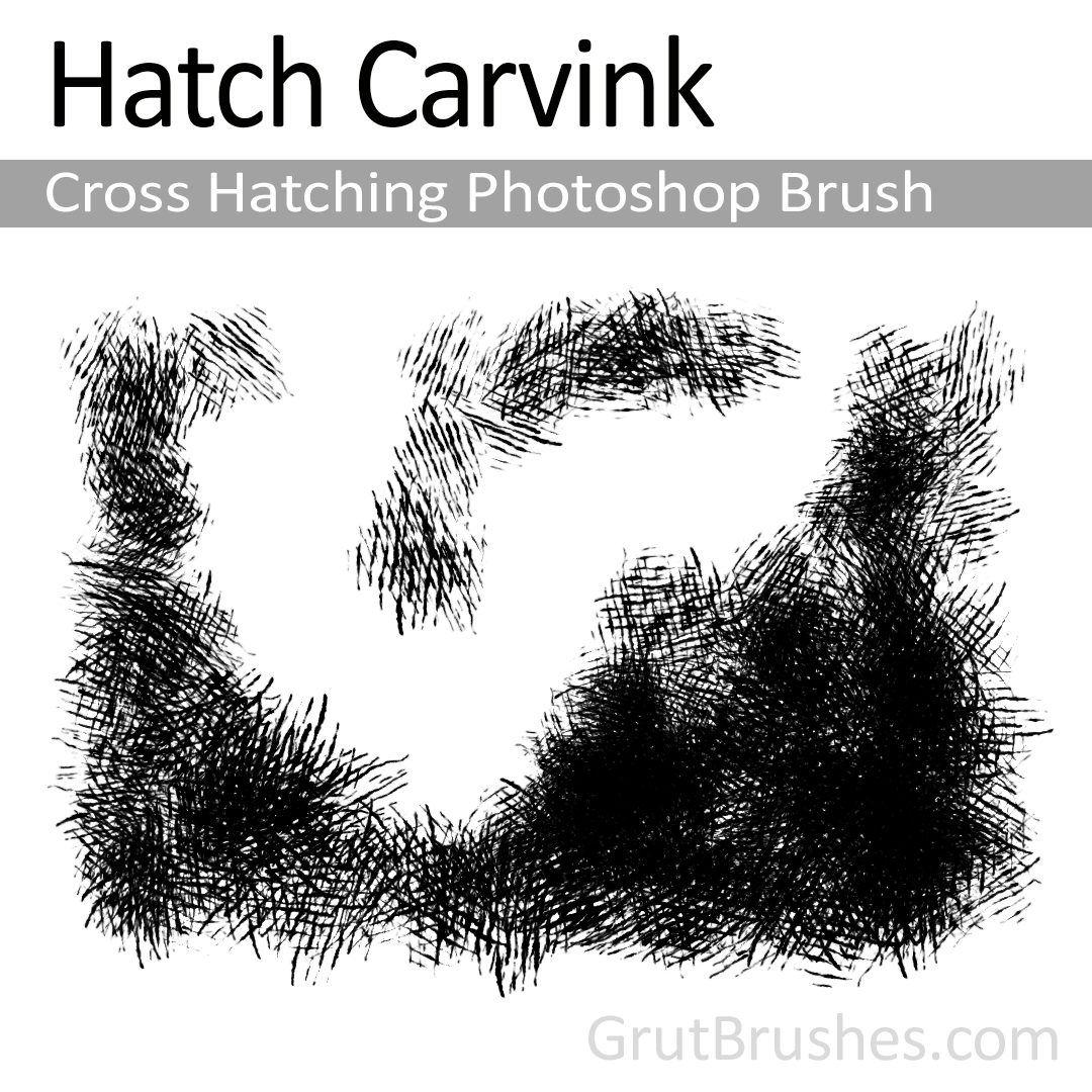 Hatch Carvink - Cross Hatching Photoshop Brush