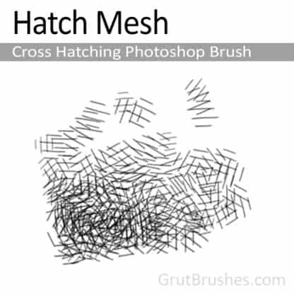 Hatch Mesh - Photoshop Cross Hatching Brush
