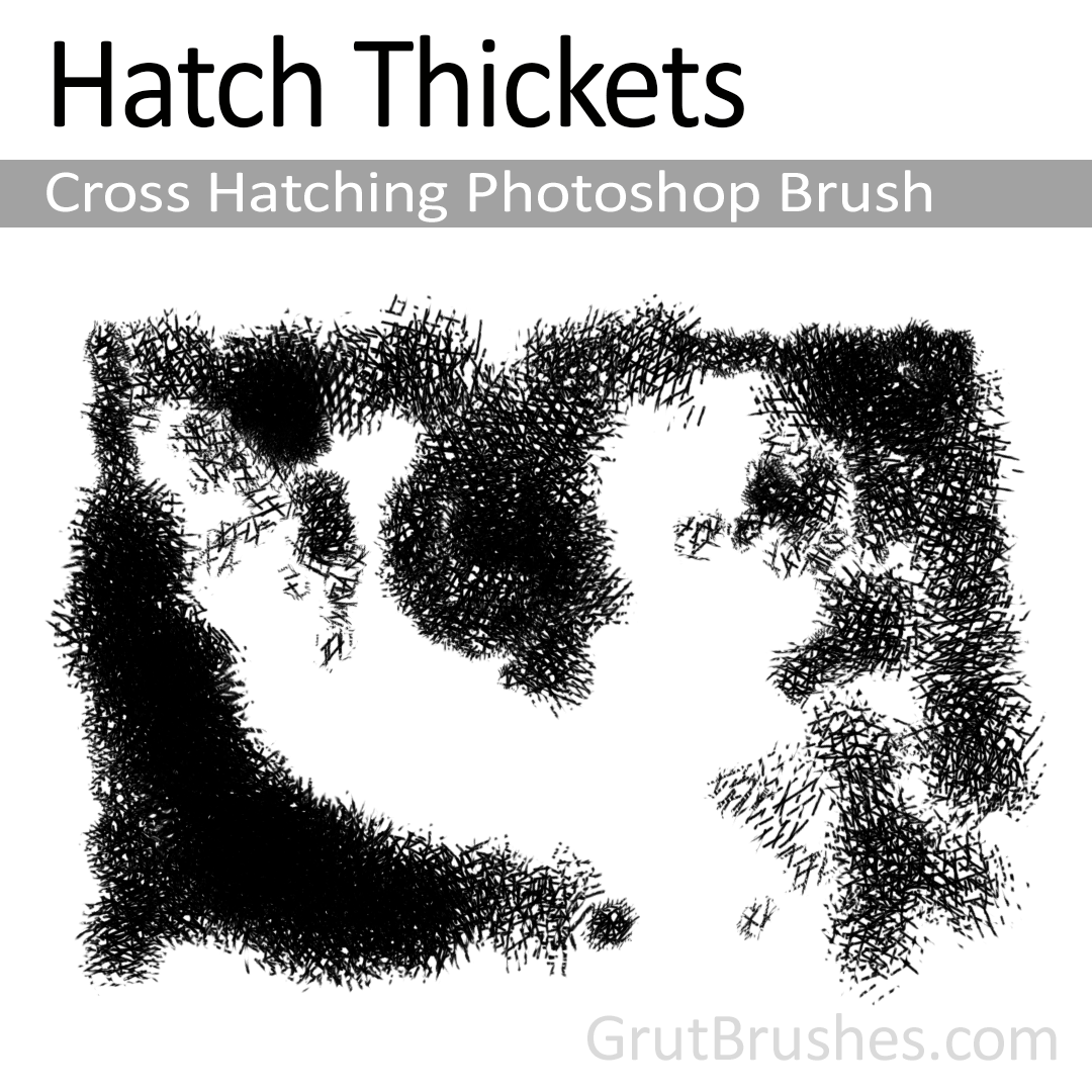Hatch Thickets - Cross Hatching Photoshop Brush