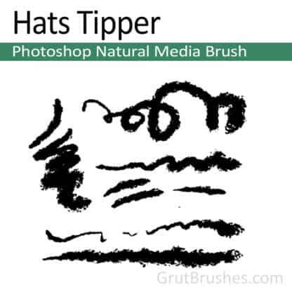 Photoshop Natural Media Brush for digital artists 'Hats Tipper'