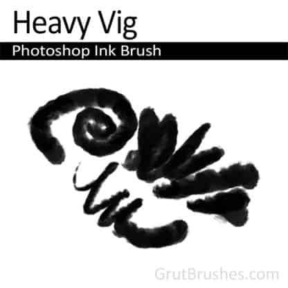 Photoshop Ink Brush for digital artists 'Heavy Vig'
