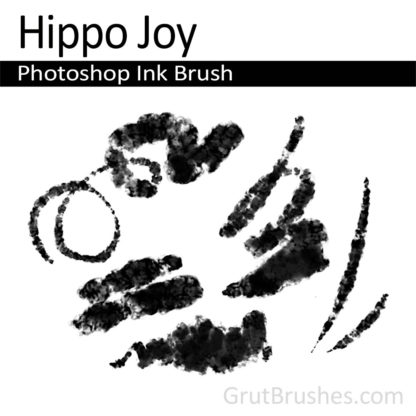 Photoshop Ink Brush for digital artists 'Hippo Joy'