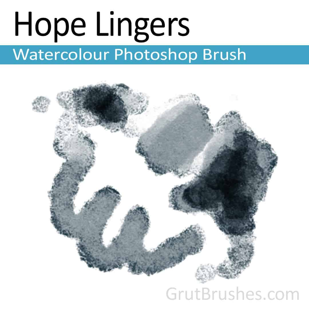 'Hope Lingers' Photoshop watercolor brush for digital painting