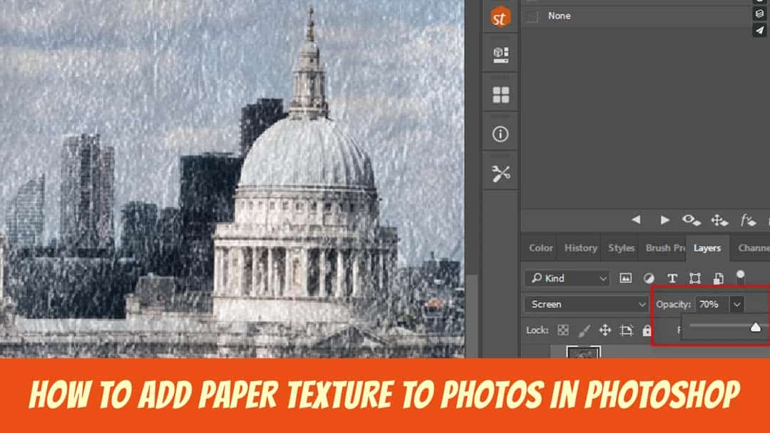 How to add paper texture to Photos in Photoshop
