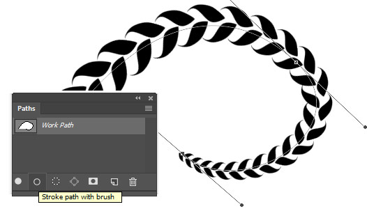 How to stroke a path with a Photoshop pattern