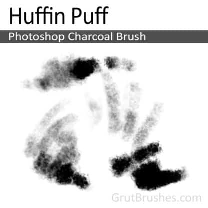 Photoshop Charcoal Brush for digital artists 'Huffin Puff'