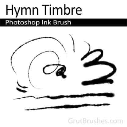 Photoshop Ink Brush for digital artists 'Hymn Timbre'