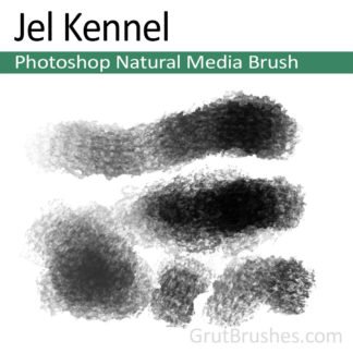 Photoshop Natural Media Brush for digital artists 'Jel Kennel'