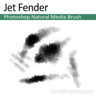 Photoshop Natural Media Brush for digital artists 'Jet Fender'