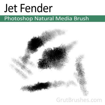 Photoshop Natural Media Brush for digital artists 'Jet Fender'