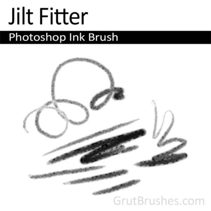 Photoshop Ink Brush for digital artists 'Jilt Fitter'