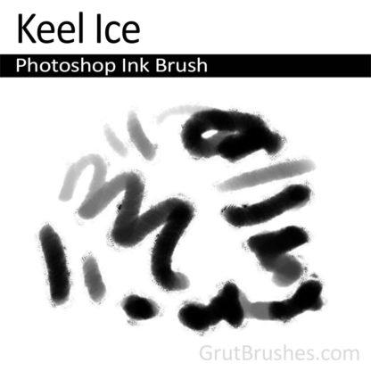 Photoshop Ink Brush for digital artists 'Keel Ice'