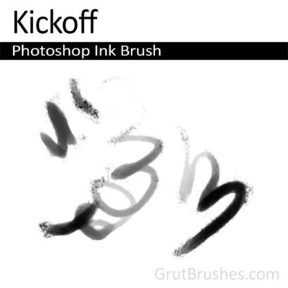 Photoshop Ink Brush for digital artists 'Kickoff'