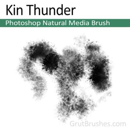Photoshop Natural Media Brush for digital artists 'Kin Thunder'