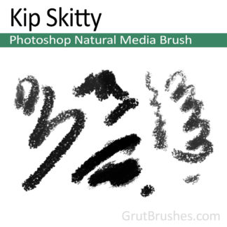 Photoshop Natural Media Brush for digital artists 'Kip Skitty