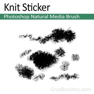 Photoshop Natural Media Brush for digital artists 'Knit Sticker'