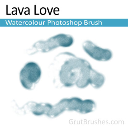 Photoshop Watercolor for digital artists 'Lava Love'