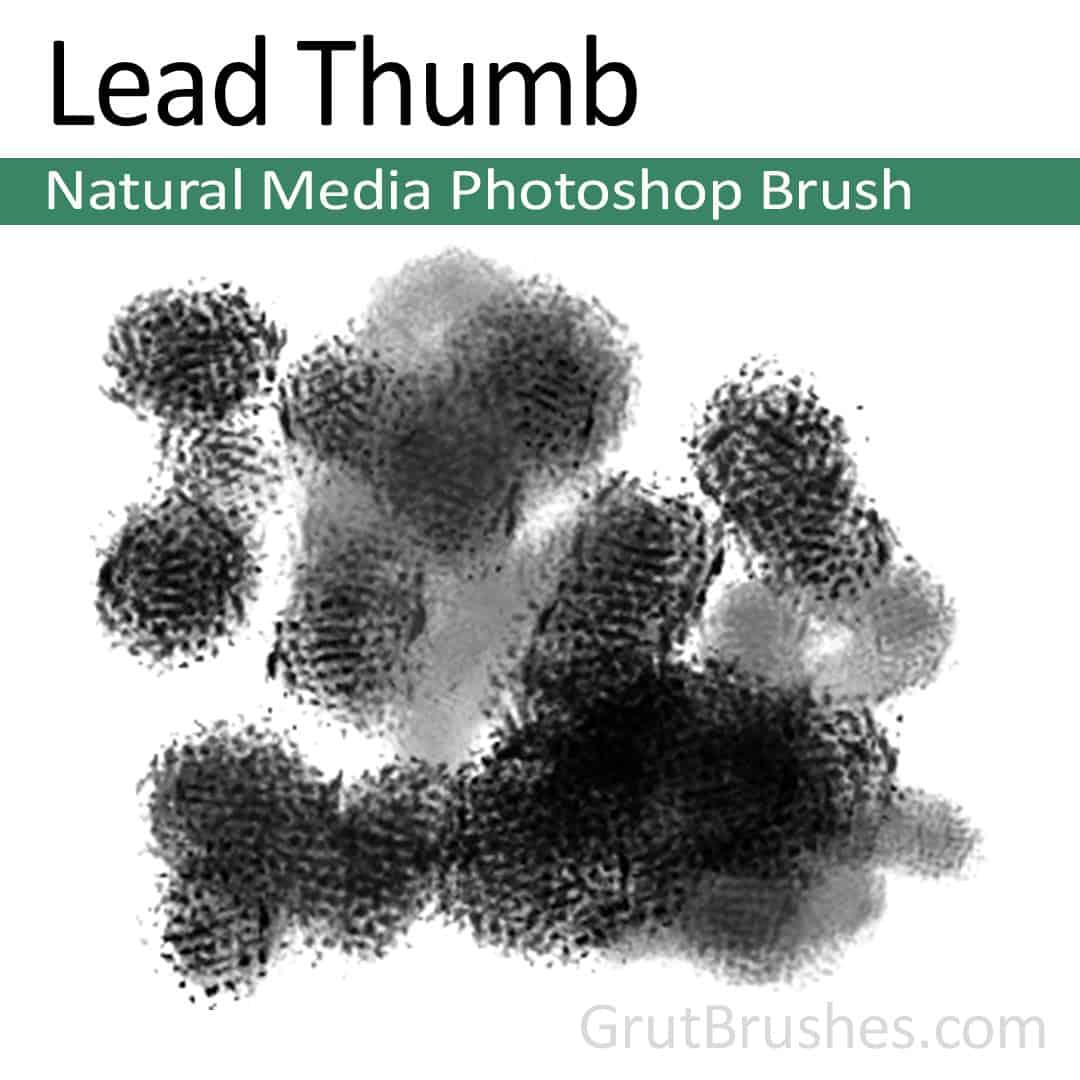 Lead Thumb - Photoshop Natural Media Brush ...  sc 1 st  GrutBrushes & Lead Thumb - Photoshop Natural Media Brush - Grutbrushes.com